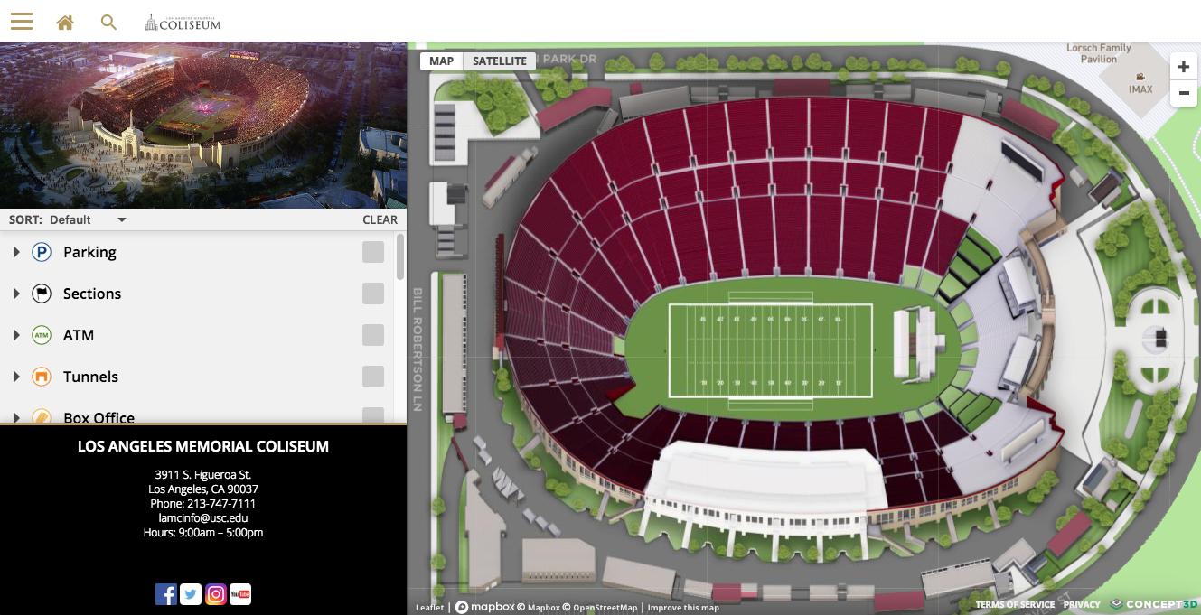 Coliseum Maps – Los Angeles Coliseum