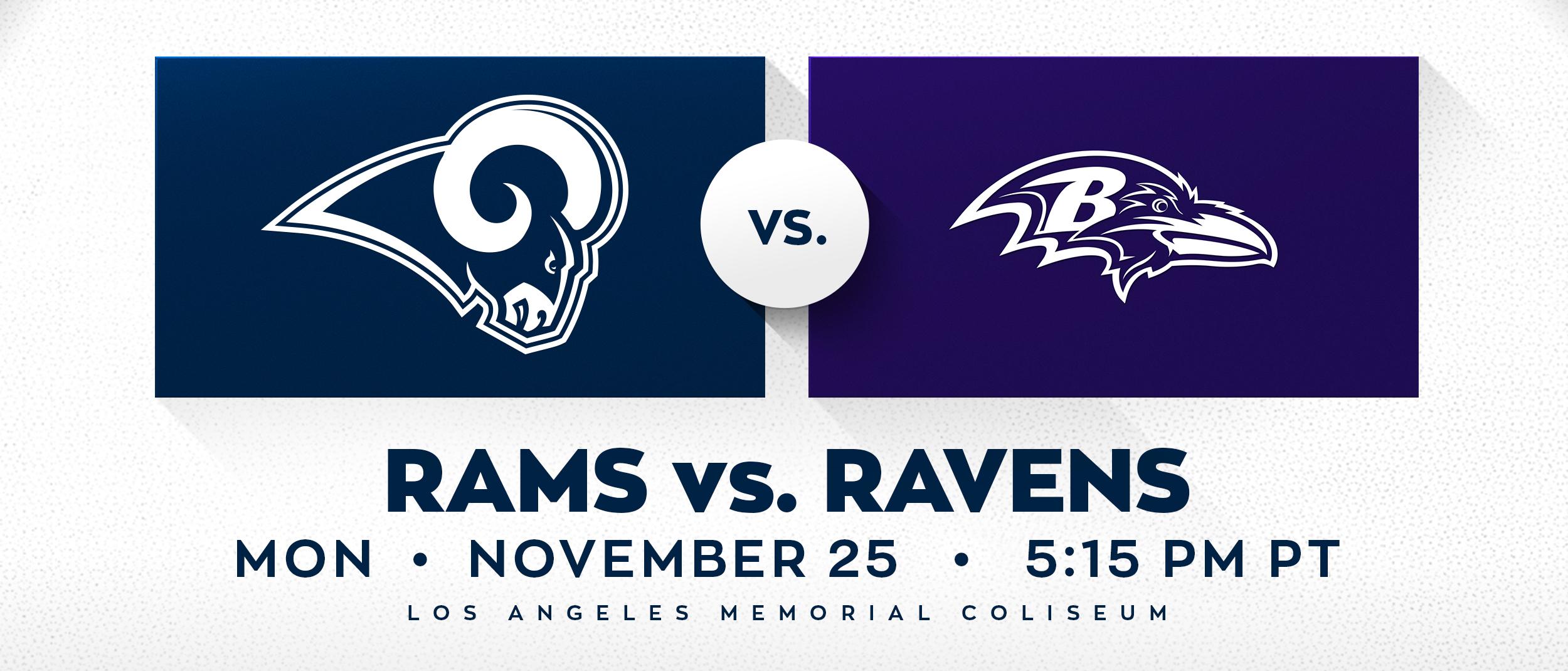 Rams vs Ravens