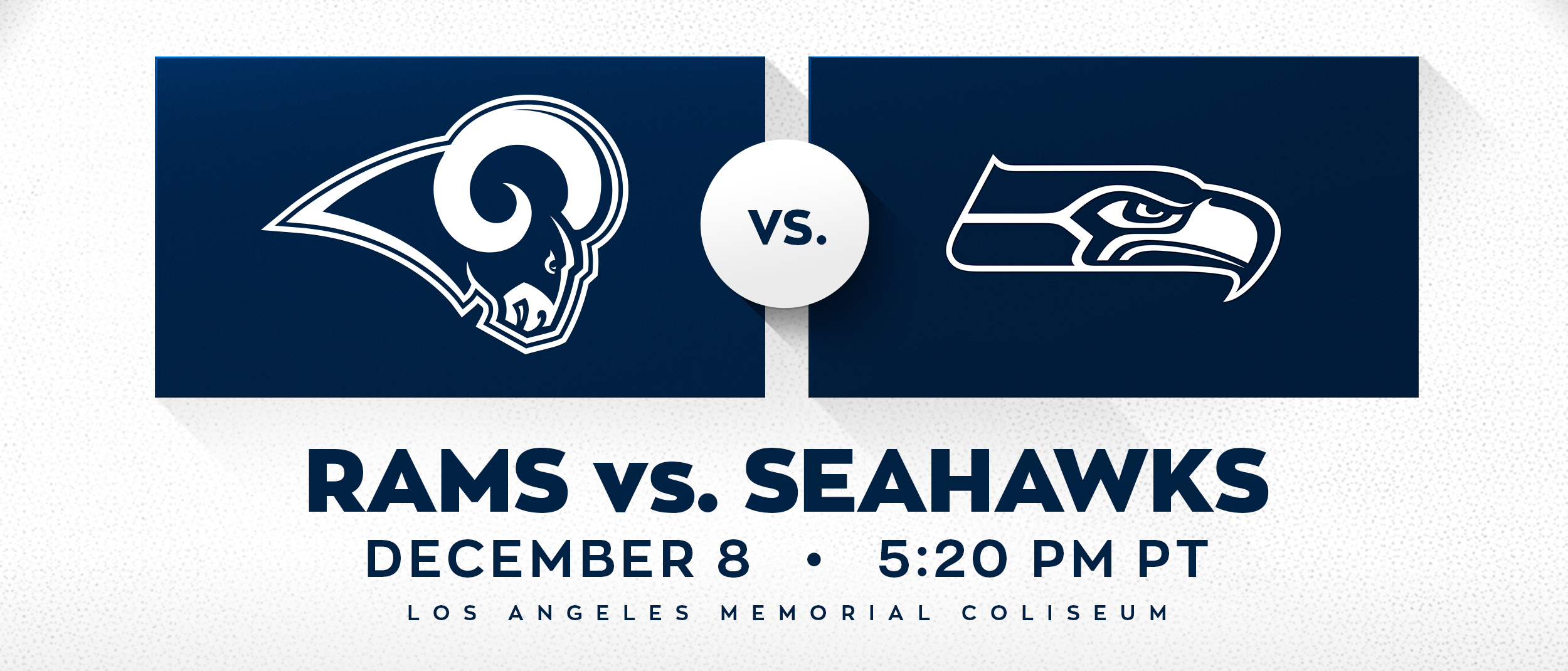 Rams Vs Seahawks Los Angeles Coliseum