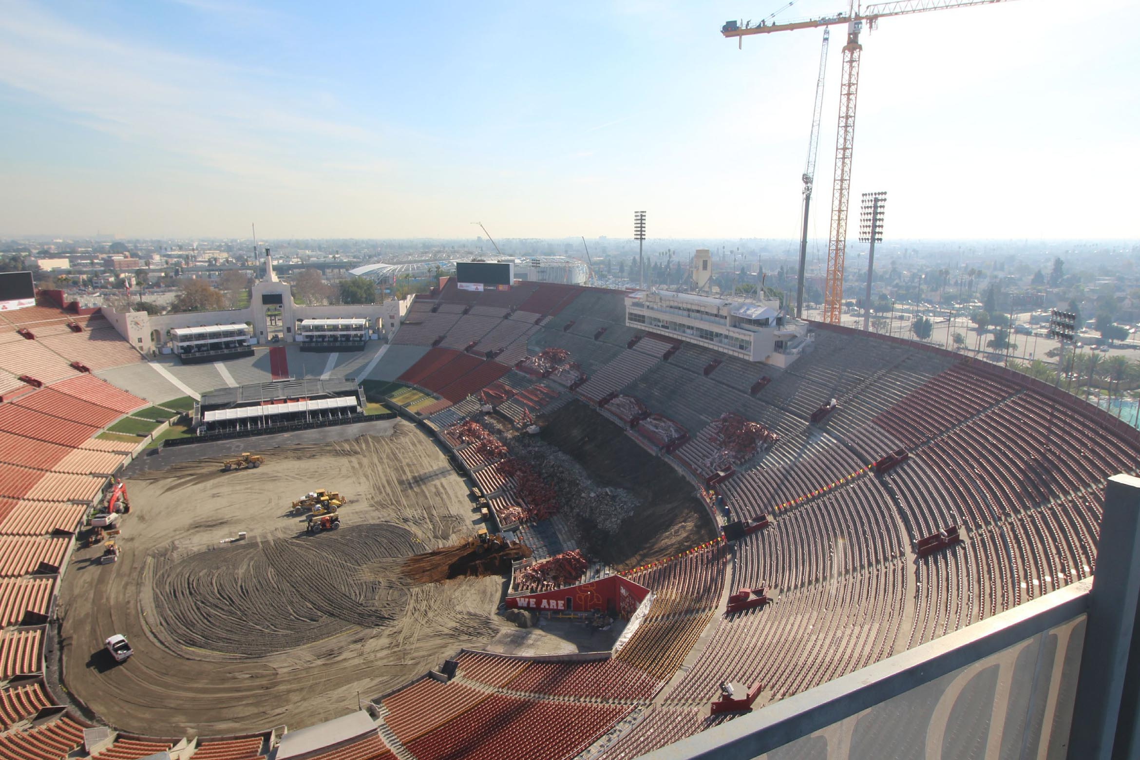 Coliseum Renovation Time Lapse Los Angeles Coliseum